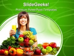 Juice Vegetables And Fruits Food PowerPoint Templates And PowerPoint Backgrounds 0411