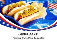 July Picnic Americana PowerPoint Themes And PowerPoint Slides 0411