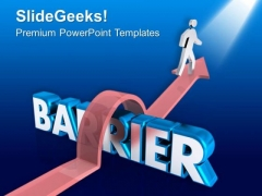 Jump The Barrier For Success PowerPoint Templates Ppt Backgrounds For Slides 0613