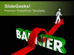 Jump The Bars To Find Success PowerPoint Templates Ppt Backgrounds For Slides 0413