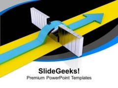 Jump The Boundaries To Get Success PowerPoint Templates Ppt Backgrounds For Slides 0413