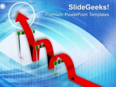 Jump The Hinderence For Growth PowerPoint Templates Ppt Backgrounds For Slides 0513