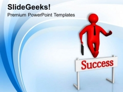 Jump The Hurdle For Business PowerPoint Templates Ppt Backgrounds For Slides 0613