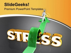 Jump The Stress For Success PowerPoint Templates Ppt Backgrounds For Slides 0613