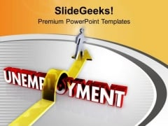 Unemployment powerpoint templates slides and graphics jump the unemployment to get job powerpoint templates ppt backgrounds for slides 0513 toneelgroepblik Image collections