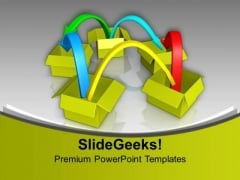 Jumping From One Idea To Other PowerPoint Templates Ppt Backgrounds For Slides 0713