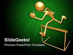 Jumping Hurdle Competition PowerPoint Templates And PowerPoint Backgrounds 0711