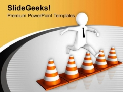 Jumping Traffic Bars Is Riskly PowerPoint Templates Ppt Backgrounds For Slides 0713