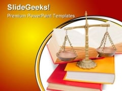Justice Books Concept Law PowerPoint Backgrounds And Templates 1210