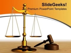 Justice Found In Law Court Business PowerPoint Templates Ppt Backgrounds For Slides 0313