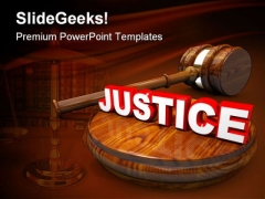 Justice Law PowerPoint Themes And PowerPoint Slides 0411