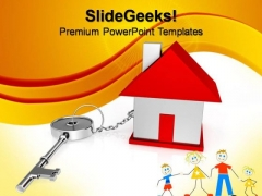 Key Connect House Finance PowerPoint Templates And PowerPoint Themes 0812