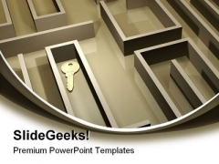 Key In Labyrinth Security PowerPoint Templates And PowerPoint Backgrounds 0311