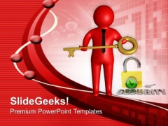 Key Security Concept For Protection PowerPoint Templates Ppt Backgrounds For Slides 0613