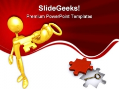 Key Security PowerPoint Themes And PowerPoint Slides 0911