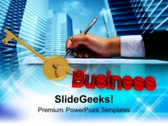 Key To Business Success PowerPoint Templates Ppt Backgrounds For Slides 0113