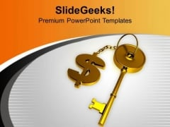 Key To Dollar Business Success PowerPoint Templates Ppt Backgrounds For Slides 0313