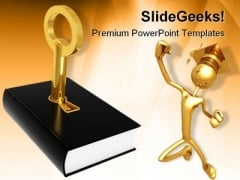 Key To Knowledge People PowerPoint Backgrounds And Templates 1210
