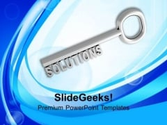Key To Solution Business Concept PowerPoint Templates Ppt Backgrounds For Slides 0213