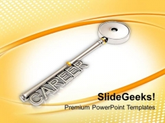 Key To Success And Career Future PowerPoint Templates Ppt Backgrounds For Slides 0113