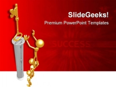 Key To Success Business PowerPoint Themes And PowerPoint Slides 0811