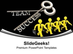 Key To Success Business Teamwork PowerPoint Templates Ppt Backgrounds For Slides 0113