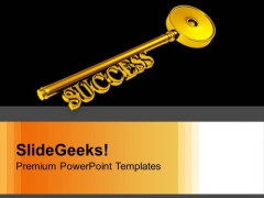 Key To Success Business Wealth PowerPoint Templates Ppt Backgrounds For Slides 0213