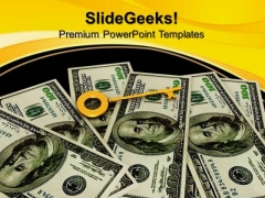Key To Success Dollars Currency Finance PowerPoint Templates And PowerPoint Themes 0812