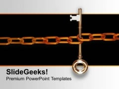 Key With Chain Concept Of Security PowerPoint Templates Ppt Backgrounds For Slides 0113