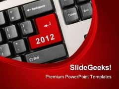 Keyboard With 2012 Computer PowerPoint Templates And PowerPoint Backgrounds 1011
