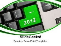Keyboard With New Year Computer PowerPoint Templates And PowerPoint Backgrounds 1011