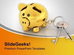 Keys Connected To Money Bank Investment PowerPoint Templates Ppt Backgrounds For Slides 0313