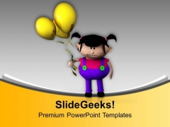 Kids Enjoy Playing With Balloons PowerPoint Templates Ppt Backgrounds For Slides 0713