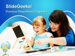 Kindergarten Education PowerPoint Template 1110
