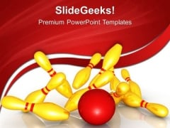 Knocking Down Pins Game PowerPoint Templates And PowerPoint Themes 0512