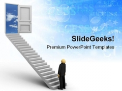 Ladder Of Success Leadership PowerPoint Templates And PowerPoint Backgrounds 0711