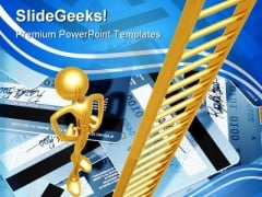 Ladder Out Of Credit Debt Business PowerPoint Templates And PowerPoint Backgrounds 0711