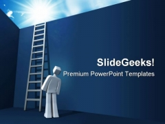 Ladder To Opportunity Business PowerPoint Template 0610