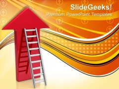 Ladder With Arrow Success PowerPoint Templates And PowerPoint Themes 1012
