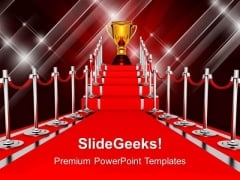 Ladder With Red Carpet Winner Success PowerPoint Templates And PowerPoint Themes 1112