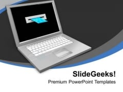 Laptop And Credit Card Online Shopping PowerPoint Templates Ppt Backgrounds For Slides 0213