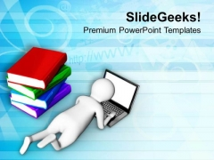 Laptop Can Replace Books PowerPoint Templates Ppt Backgrounds For Slides 0713