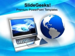 Laptop Computer PowerPoint Templates And PowerPoint Themes 0612