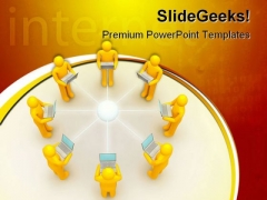 Laptop Network Internet PowerPoint Templates And PowerPoint Backgrounds 0511