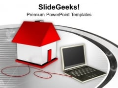 Laptop Smart Home Concept PowerPoint Templates Ppt Backgrounds For Slides 0213
