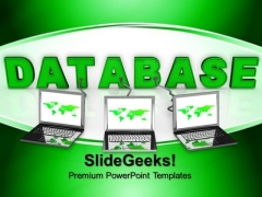 Laptop Wired To Database Global PowerPoint Templates And PowerPoint Themes 0812