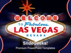 Las Vegas Sign Americana PowerPoint Templates And PowerPoint Backgrounds 0311