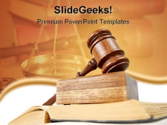 Law And Order Law PowerPoint Template 1110