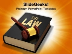 Law Book Education PowerPoint Templates And PowerPoint Themes 0712
