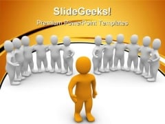 Leader And Groups Leadership PowerPoint Templates And PowerPoint Backgrounds 0611